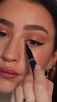 Party Eye Makeup, Soft Eye Makeup, Makeup Geek Eyeshadow, Makeup Tutorial Eyeliner, Makeup Looks Tutorial, Makeup Eye Looks, Eye Makeup Art, Smokey Eye Makeup, Skin Makeup