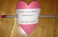 Valentines for students. No candy :)