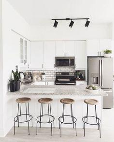 15 Top Apartment Kitchen Designs https://www.designlisticle.com/apartment-kitchen-designs/ #minimalistkitchen