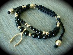 Yogi Bead Lucky Wishbone 10k Gold