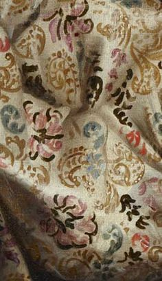 """Fabric detail -   'Hercules and Omphale' by Diego López, """"El mudo"""" (17th century)"""