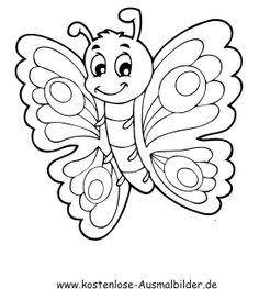 Ausmalbild Schmetterling 7