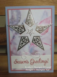 Lesley's Stampin Ground : Feels Like Frost with So Many Stars Christmas Mom, Stampin Up Christmas, Christmas Makes, Handmade Christmas, Christmas Crafts, Christmas Stars, Christmas 2019, Christmas Brochure, Star Cards