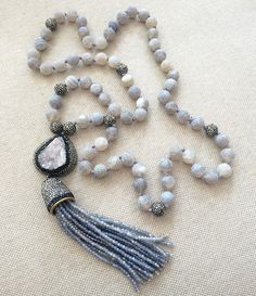 Here's another #gorgeous 😍  #statement #tassel 📿📿📿  #necklace 🤗 With its #neutral #colors 🔮 #purple #gray it can be #worn all #year 👌  round with any of your #stylish #outfits 💁👗👠  #tasselnecklace #neutralnecklace #statementnecklace #druzy #agate #gemstone #gemstonenecklace #naturalstone #statement #jewelry #musthave #spamforspam #tagsforlikes #likesforlikes #followforfollow #accessories #instastyle #igfashion