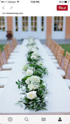 pew decor and escort table