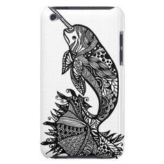 Sea Unicorn hand drawn art iPod case iPod Touch Cover