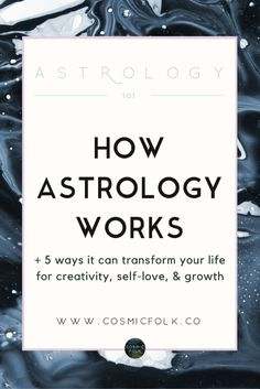 Learn how astrology works and why your moment of birth is so meaningful for discovering your life path, your gifts and strengths, and your greatest opportunities for growth. A conscious and intuitive explanation of astrology for truth seekers, light workers, empaths, and free spirits. Click through to start your cosmic journey and use astrology's ancient wisdom for creativity, self-love, and growth. xx