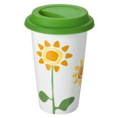 Sagaform Takeaway Flower Porcelain Mug - 8.5 oz.