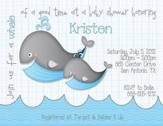 TOY WHALE BABY SHOWER IDEAS | Deb's Party Designs - Whale Baby Shower Invitation, $1.00 (http://www ...