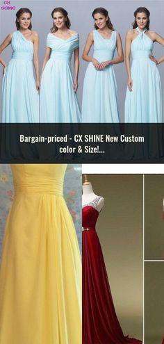 CX SHINE New Custom color   Size! Sweet 4 style long Bridesmaid Dresses  colors wedding 1b03bcf12344