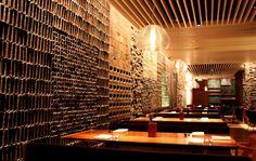 Textured wall. Super Potato - Straights kitchen - GH Singapore