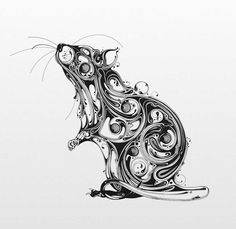 This series by UK-based artist Si Scott, entitled Resonate, features black ink illustrations inspired by British wildlife and old anatomical drawings. Art And Illustration, Ink Illustrations, Illustration Pictures, Si Scott, Amazing Drawings, Art Drawings, Drawing Art, Animal Drawings, Art Sketches