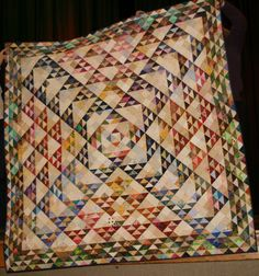 Utah Valley Quilt Guild: January Show & Tell.  Triangle exchange
