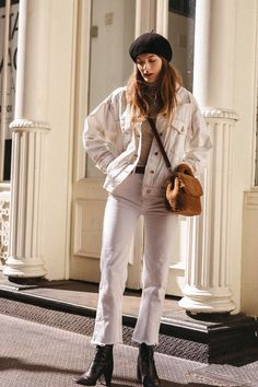 Le Fashion shares 25 of the coolest white denim pieces to shop now for winter.