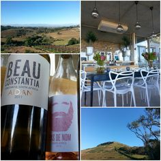 Wine tasting at Beau Constantia, Cape Town, South Africa. South African Wine, True Homes, Lets Get Lost, Cape Town, Wine Tasting, Wines, Red Wine, Robin, Bottle