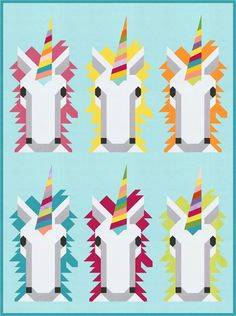 Unicorn Scrappuccino quilt by Kelli Fannin at Timeless Treasures Fabrics Cute Quilts, Baby Quilts, Quilt Patterns Free, Free Pattern, Unicorn Coffee, Timeless Treasures Fabric, Unicorn Pattern, Animal Quilts, Foundation Paper Piecing