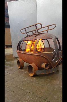Feuerschalen & -stellen - Bulli t1 Feuerschale - ein Designerstück von besonderemoebel bei DaWanda
