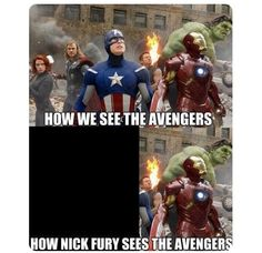 How Nick Fury sees the Avengers