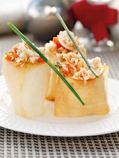 Bricks de buey de mar Appetizer Recipes, Appetizers, Cooking Recipes, Healthy Recipes, Food Preparation, Catering, Brunch, Food And Drink, Veggies