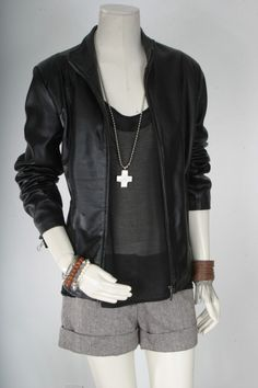 Vintage inspired leather jacket -- love the fit and style of this.