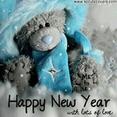 ♥ Tatty Teddy ♥ Happy New Year, With Lots of Love from Me to You. Tatty Teddy, Christmas And New Year, Christmas Cards, Teddy Bear Pictures, Blue Nose Friends, Hello November, Happy New Year Images, Cute Teddy Bears, New Year Greetings