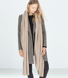 ZARA - WOMAN - CASHMERE-FEEL SCARF