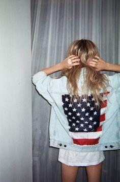 vintage jean jackets with flag backs