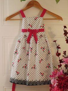 Girls, RARE EDITIONS White w/pink flower designs Dress, SZ 3T  #RareEditions #DressyHolidayWedding #kids clothing #shopping Starting price $7.50 on EBAY