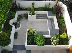 Image result for small courtyard garden ideas