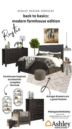 Deep wood finishes, mixed media and tons of texture make this room a true farmhouse dream. Get inspired and find what unique pieces bring the homey charm alive in your home. For more #modernfarmhouse inspiration, check out our pins! To bring this style into your home, use the code AHSDESIGN at checkout to receive 15% off your purchase. Exclusions apply.
