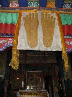 Footprints of Buddha . Tibet