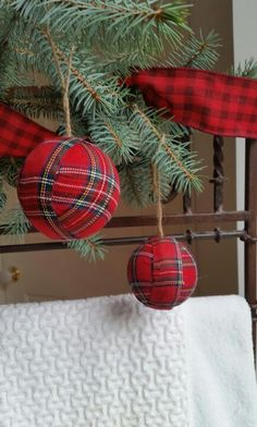 Tartan Plaid  Ornaments