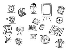 the icons I use every day in my graphics practice - graphic facilitation and recording work