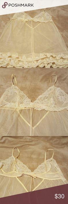 Victoria Secret baby doll Like new. Has pretty lace. Victoria's Secret Intimates & Sleepwear