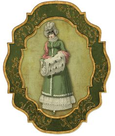 EKDuncan - My Fanciful Muse: Christmas Ornaments using Regency Fashion Plates from Ackermann's Repository