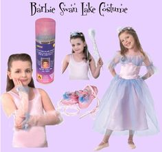"""Barbie Swan Lake Costume"" by halloweencostumehideout on Polyvore"