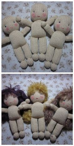 In between wrapping Christmas gifts I've been working on three new knit girls :-)   My knitting gauge is still not quite as it should be; th...