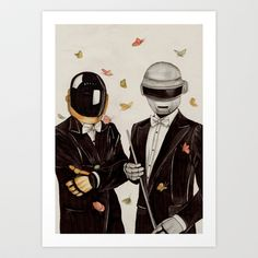 Daft Punk Art Print by The White Deer - $20.80