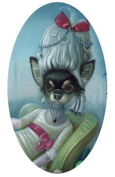 Oh, you so fancy!!   @Angelini Danger  Ilona Sampovaara - Dog Art - Bulldogs & More