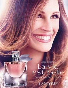 My new favorite perfume. Lancome - La vie est belle - La Vie Est Belle is a new… Perfume Ad, Cosmetics & Perfume, Perfume Bottles, Julia Roberts, Beauty News, Beauty Care, Clinique Happy, Smell Good, Lancome