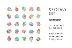 Crystals for photoshop by Lera Efremova on @creativemarket