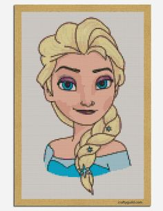 Elsa Free Cross Stitch Pattern - Crafty Guild