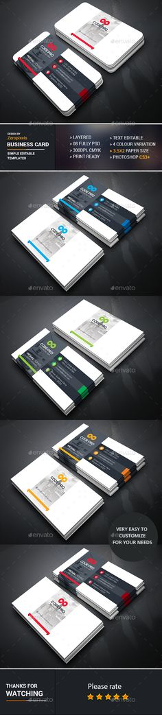 Business Card Template PSD. Download here: https://graphicriver.net/item/business-card/17336814?ref=ksioks
