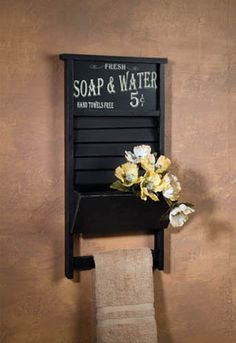 Washboard Towel Rack - $48.00 : Enchanted Cottage Shop, For Gifts Antiques Reproductions Collectables and Home Decor