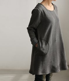 simple warmth Dress bottoming shirt gown by Lieb Ma