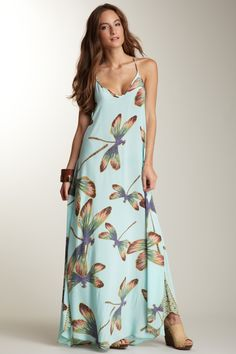 RaMona LaRue Tara Aqua Dragonfly Dress $ 109.00