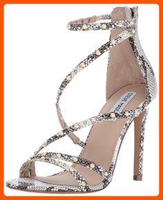 c64ca5b4e2 Steve Madden Women's Meg Dress Sandal, Natural Snake, 10 M US - All about