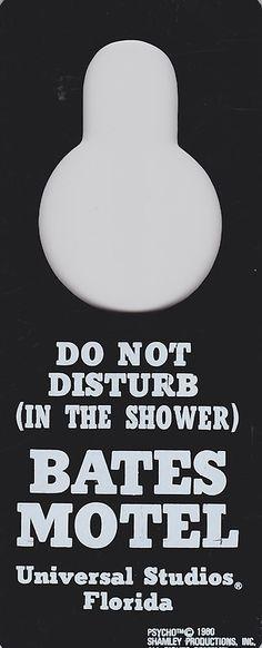 "Psycho/Bates Motel ""Do not disturb"" sign"