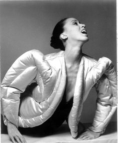Charles James eiderdown jacket (1938); model Pat Cleveland | 1970s