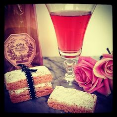 Pink Champagne Biscuits, a huuuge classical in France, and a (secret) recipe well conserved for decades - centuries. they are delicious with Champagne.  Yummy yummy